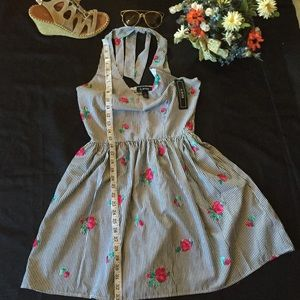 A byer dress black and white stripe with floral